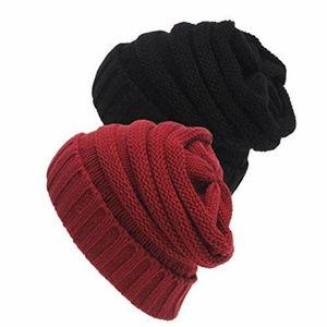 Senker Beanie Soft Cozy Women Men Cable Hats Cap